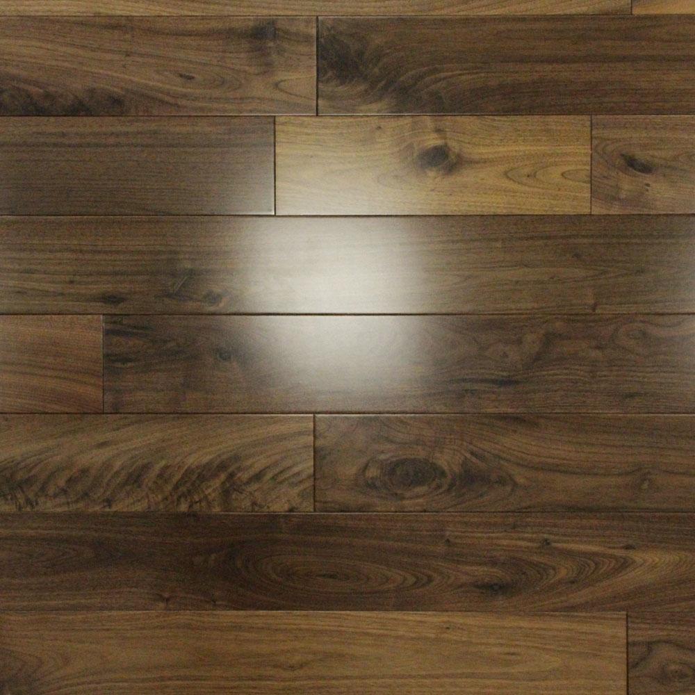 Solid Walnut Flooring: 110mm Lacquered Solid American Walnut Wood Flooring 1.94m²
