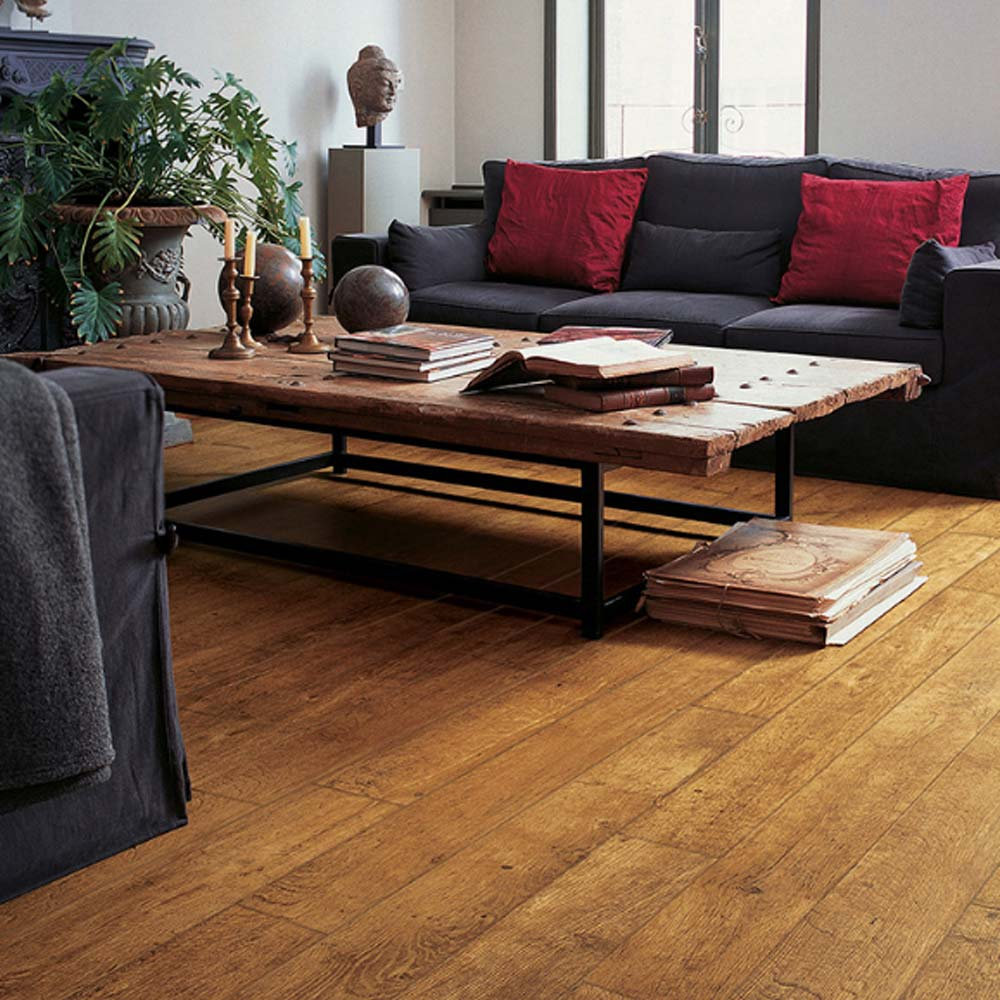 Quick step perspective harvest oak planks 4 groove uf860 lam for Quick step laminate flooring reviews