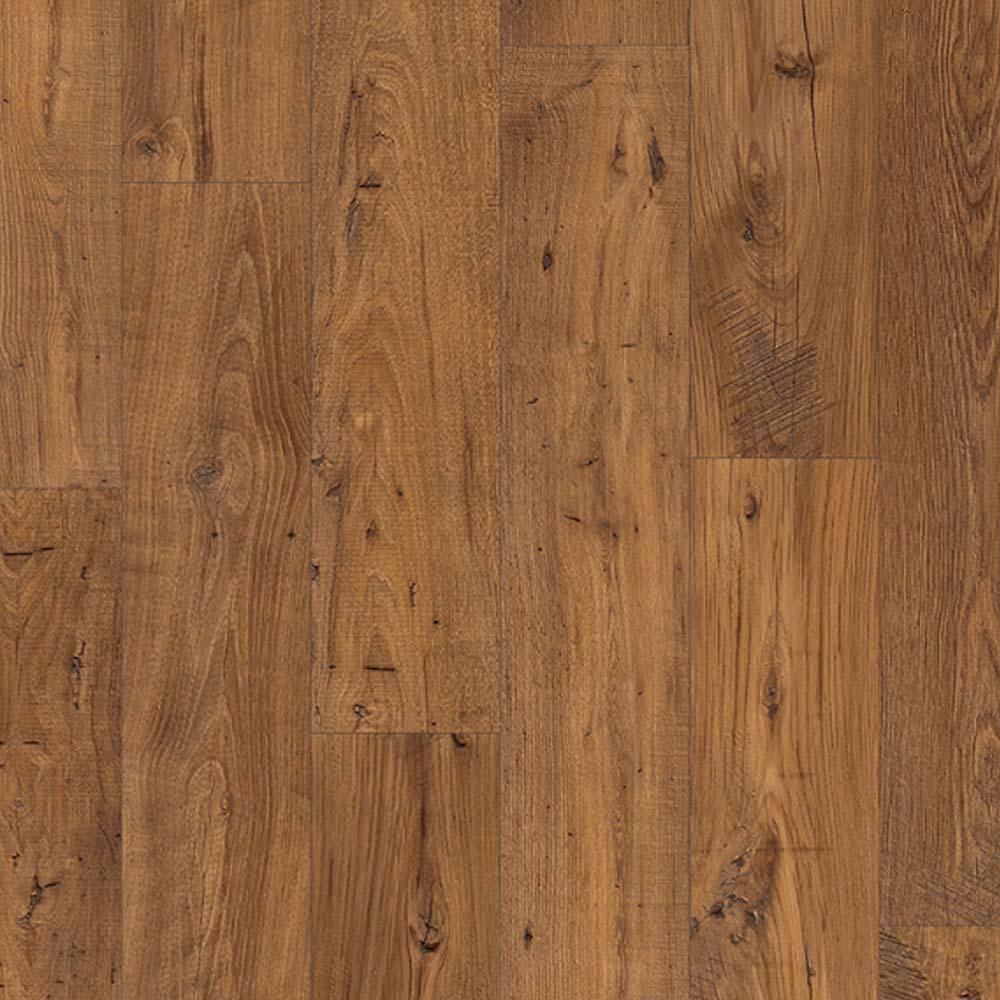 Quick step eligna wide reclaimed chestnut antique planks uw1 for Quick step laminate flooring reviews