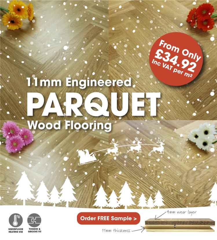 New 11mm Parquet Block Flooring