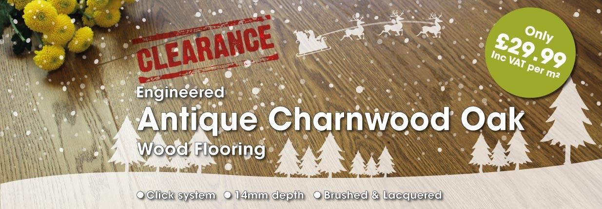180mm Engineered Antique Charnwood Oak Flooring