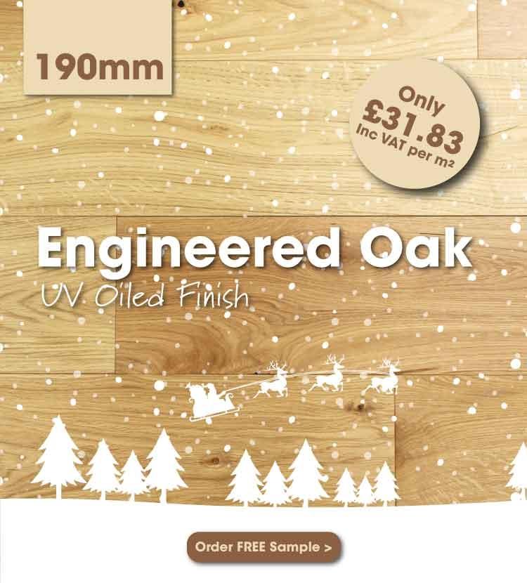 190mm Engineered Oak Flooring
