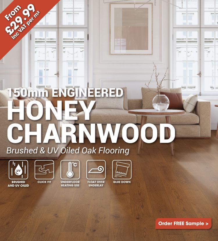 Engineered Honey Charnwood Oak Click Wood Flooring