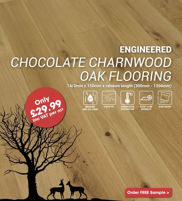 Engineered Natural Charnwood Oak Flooring Only £29.99m2