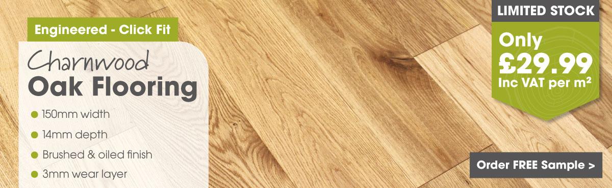 Engineered 150mm click oak flooring