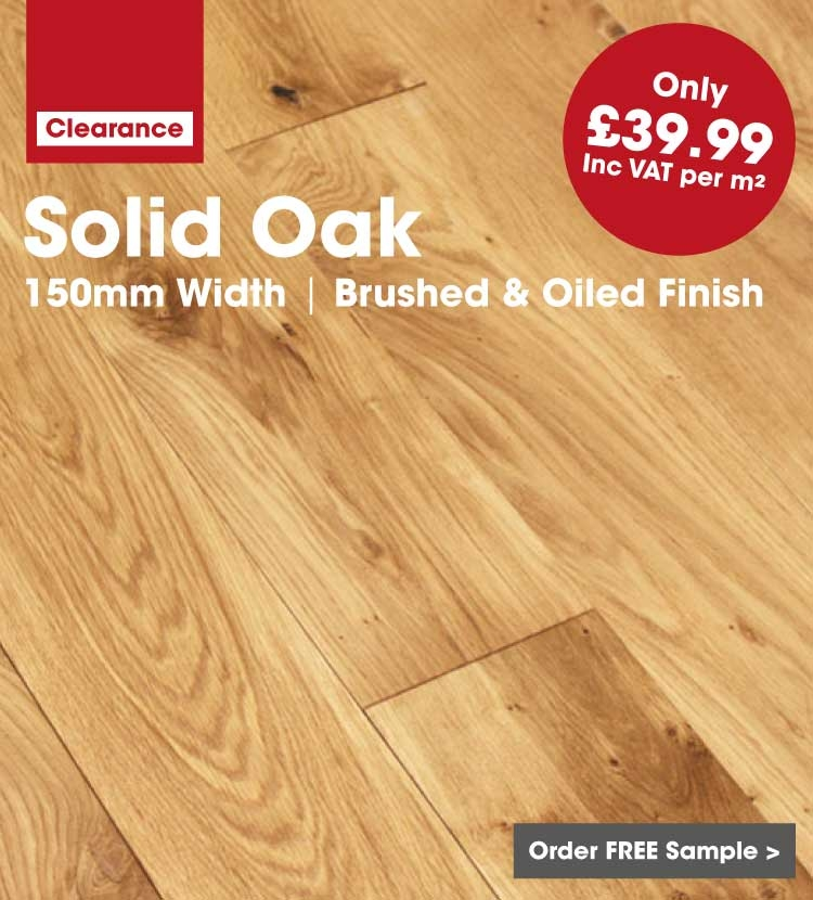 Solid Oak Flooring 150mm