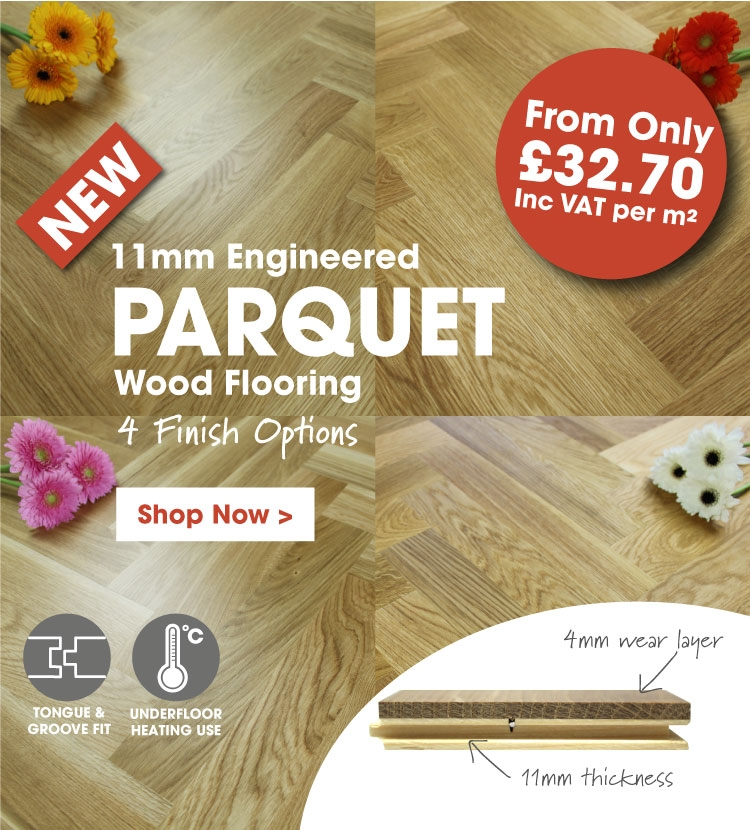 New 11mm Parquet Block Flooring