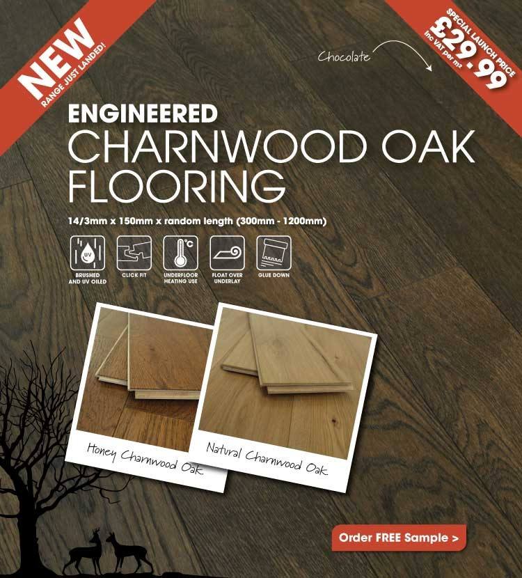 New! Engineered Charnwood Oak Flooring