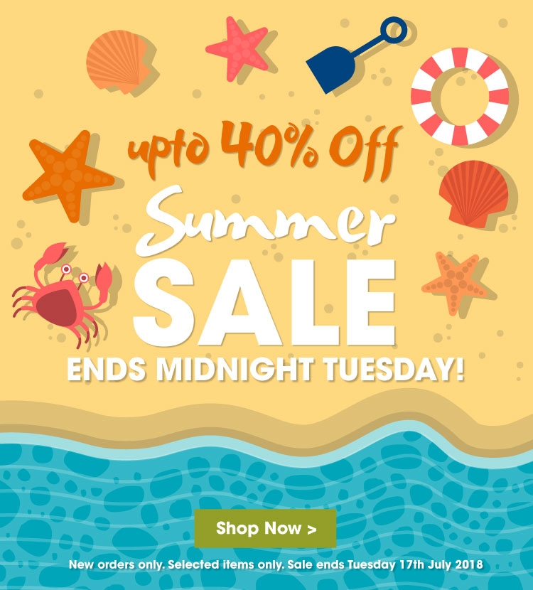 Summer Sale 2018 Ends 17th July