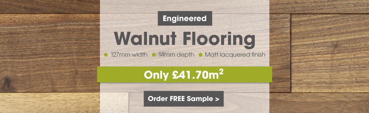 Engineered 127mm walnut flooring