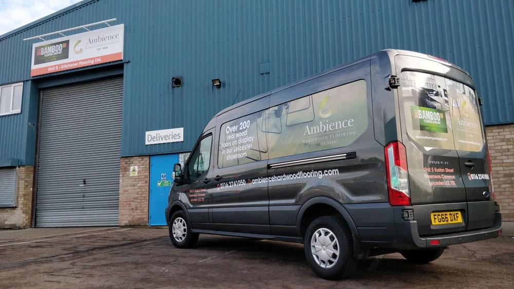 Ambience Hardwood Flooring Van & Building