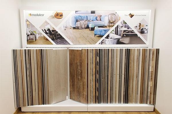Moduleo Vinyl Flooring - Leicester Showroom Stand