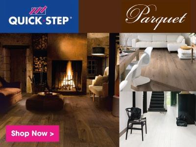 Quick-step parquet flooring