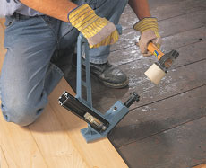 How to fit wood flooring onto existing wooden floor boards - secret nailing