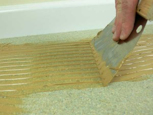 How to glue wooden flooring