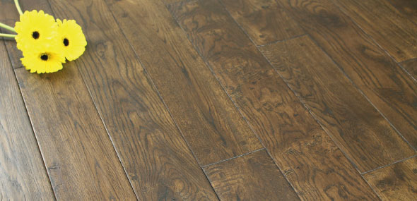 Solid Wood Flooring with flower