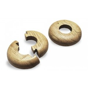 Solid Oak Pipe Covers