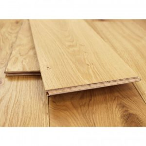 Oak flooring with loose planks laid on top