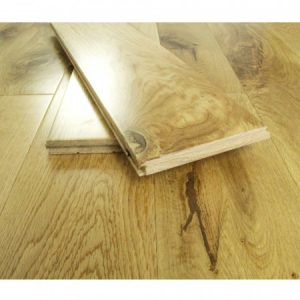 Oak flooring with 2 planks laid on top
