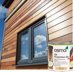 How do I protect my outside wood from the sun?