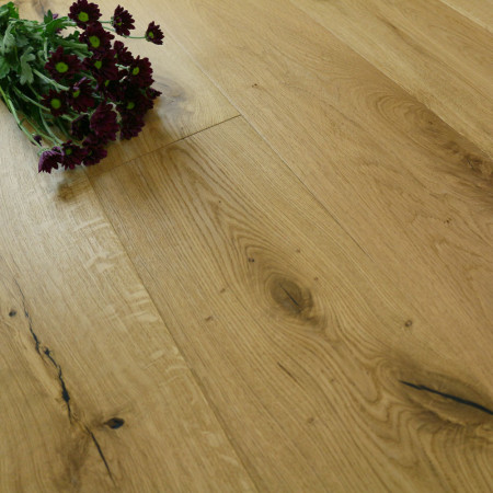 Hand scraped oak flooring