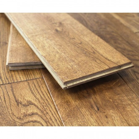 Planks of solid Oak flooring