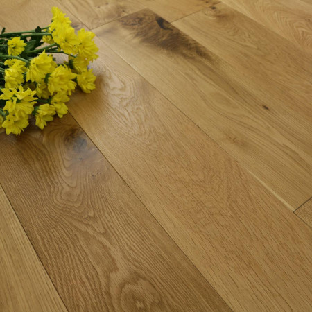 Solid Oak Flooring with flowers